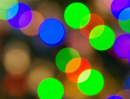 blurry lights: Multicolored defocused bokeh blurry lights Stock Photo