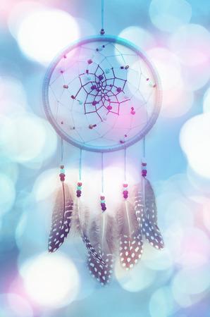 Dream catcher and abstract bokeh background Zdjęcie Seryjne