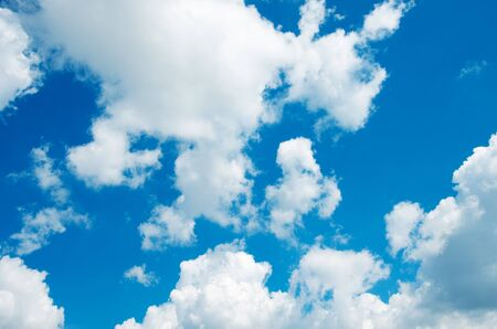 background stationary: blue sky background with white clouds