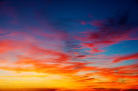 illuminated: Vivid sky illuminated by the sunset
