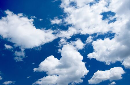 sky and clouds: blue sky background with white clouds