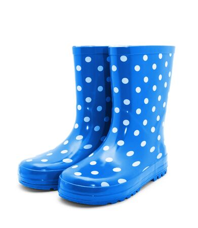 galoshes: Gumboots. Isolated on white.