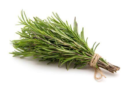 Rosemary legato su uno sfondo bianco