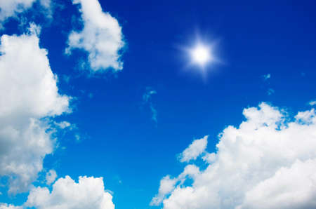 cumulus: blue sky background with white clouds