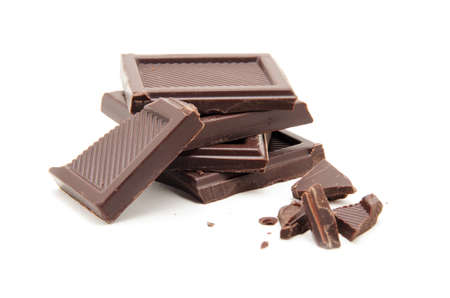 white bars: Roughly cut chunks of a chocolate bar
