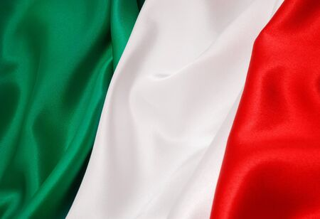 Italy Flag silk fabric background
