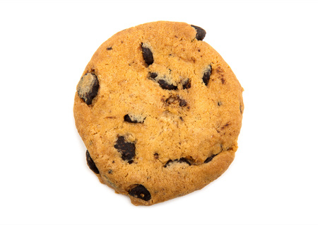 morsels: Chocolate chip cookie on white