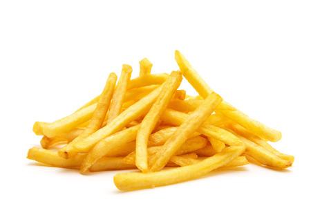 potato fry on white isolated background Stock Photo