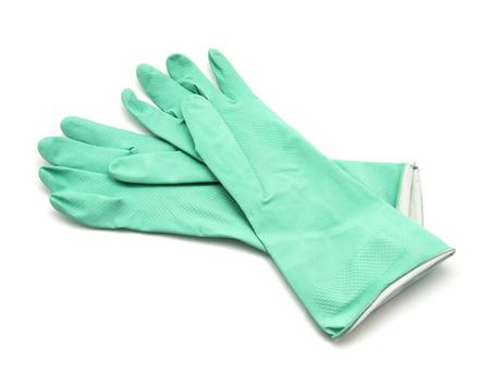 gant en caoutchouc isolé sur fond blanc