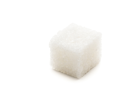 Sugar Cube on white background Standard-Bild