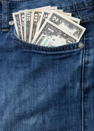 cash in jeans pocket