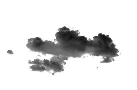 black clouds on white background