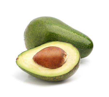 Avocado isolated on white Фото со стока