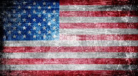 Primo piano della bandiera americana del grunge