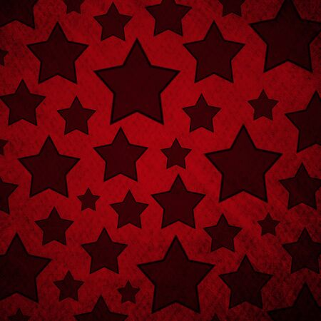 stars pattern in retro red background. Reklamní fotografie