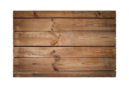 Oude plank geïsoleerd op wit