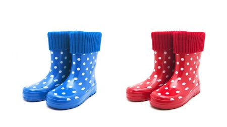 Gumboots. Isolated on white background Stock Photo