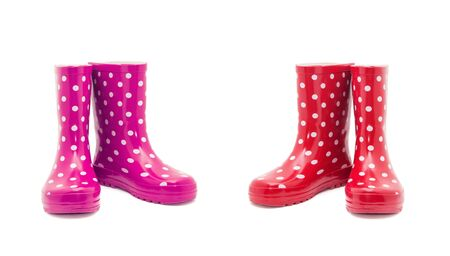 Rubber boots isolated on white