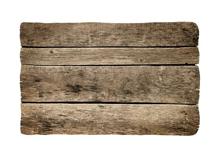 Old plank isolated on white Banco de Imagens