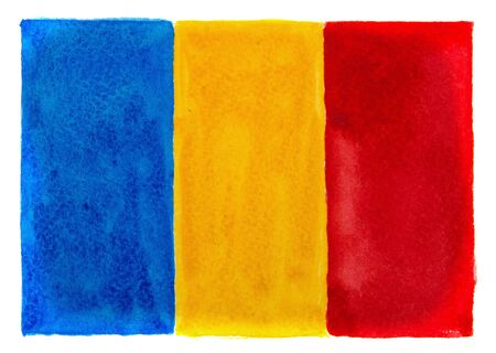 National flag of Romania on white background.
