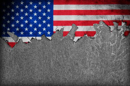 Flag of USA grunge background 스톡 콘텐츠