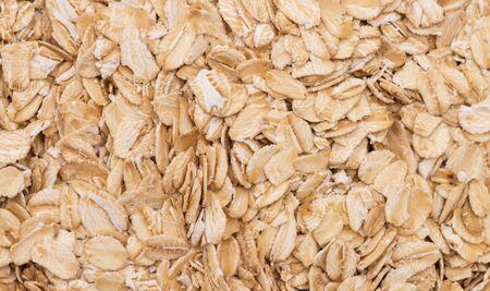 Close up of porridge oats as background or texture. Banco de Imagens
