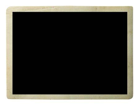 Vecchia foto in bianco isolata su bianco Archivio Fotografico