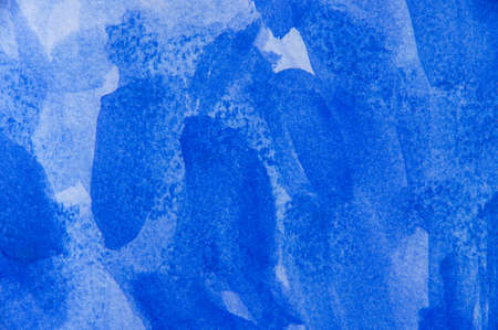 Hand painted blue watercolor background.