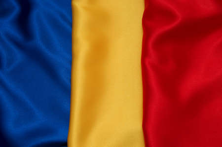 National flag of Romania background
