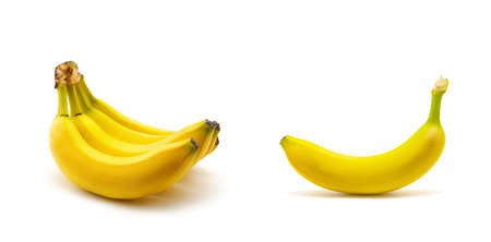 Bananas on a white background Zdjęcie Seryjne