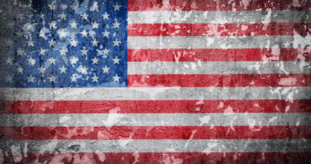 Grunge USA flag. American flag with grunge texture.