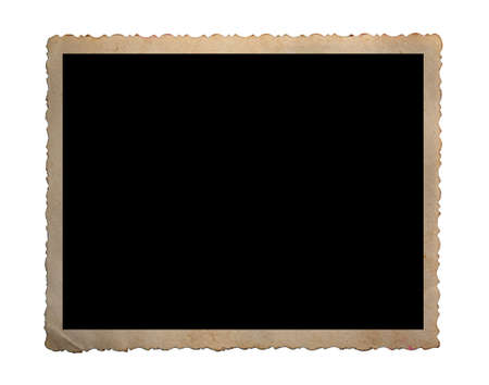 Blank old photo isolated on white Archivio Fotografico