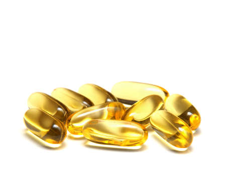 Fish oil isolated on white