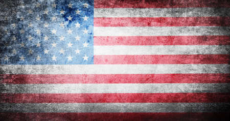 Flag of USA grunge background