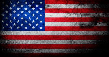 Flag of USA grunge
