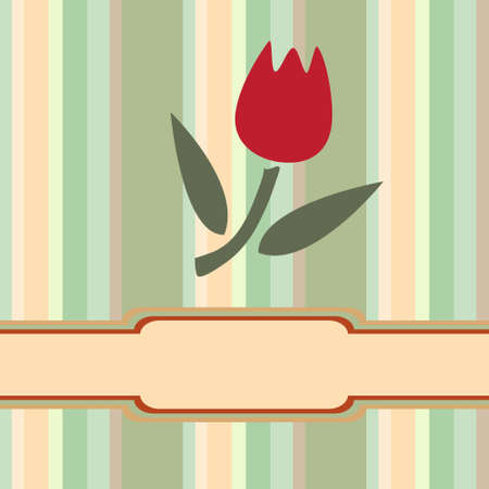 Greeting card with tulips in  form of application.