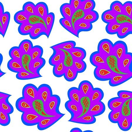 Vector pattern violet on white.