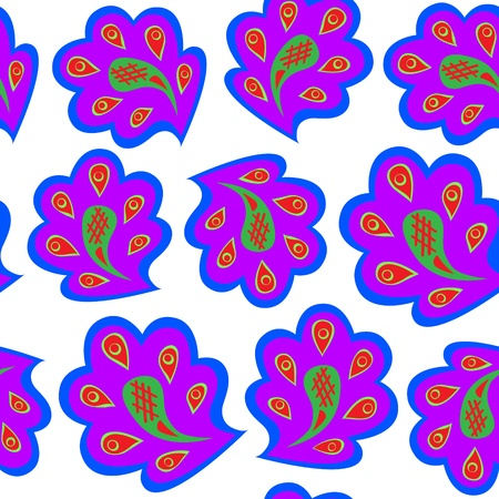 Vector pattern violet on white.