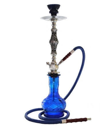 Blue Hookah isolated on white