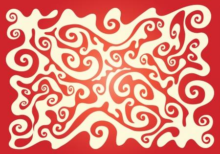 whorls: Red background of whorls