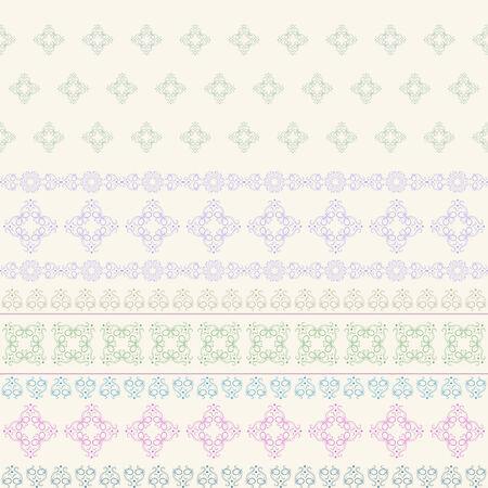 whorls: Seamless background of horizontal stripes of whorls of pale shades