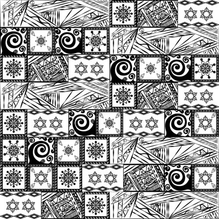 Patchwork black and white pattern  Vector