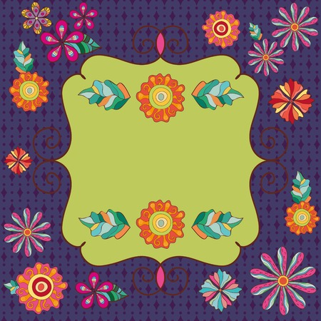 swill: Abstract Floral Background with Frame Illustration