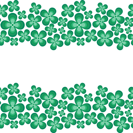 Seamless stripes background .St. Patricks day vector Vector