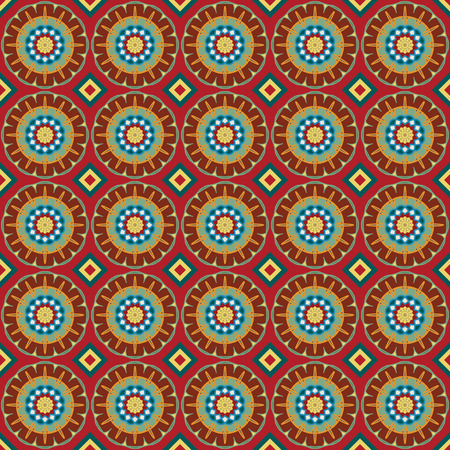 Seamless background with geometric ornament. Vector pattern Vector