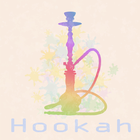 waterpipe: Decorative hookah . EPS 10 vector illustration . Abstract background