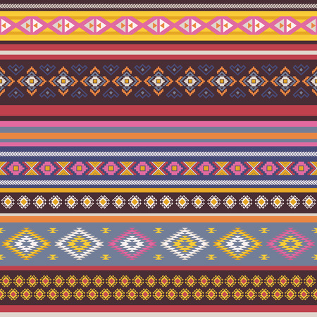 antic: Seamless pattern with tribal aztec motives. Ethnic stylized abstract wallpaper. Aztec pattern. Illustration
