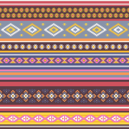 antic: Ethnic  seamless pattern with tribal aztec motives. Ethnic stylized abstract wallpaper. Aztec pattern.