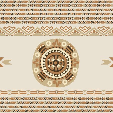 antic: Ethnic  seamless pattern with tribal aztec motives. Ethnic stylized abstract wallpaper. Aztec pattern. seamless background with folk elements .