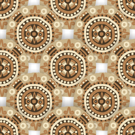 acetic: Seamless  ethnic tribal pattern with  aztec motives. Ethnic stylized abstract wallpaper. Aztec pattern. seamless background with folk elements . Illustration